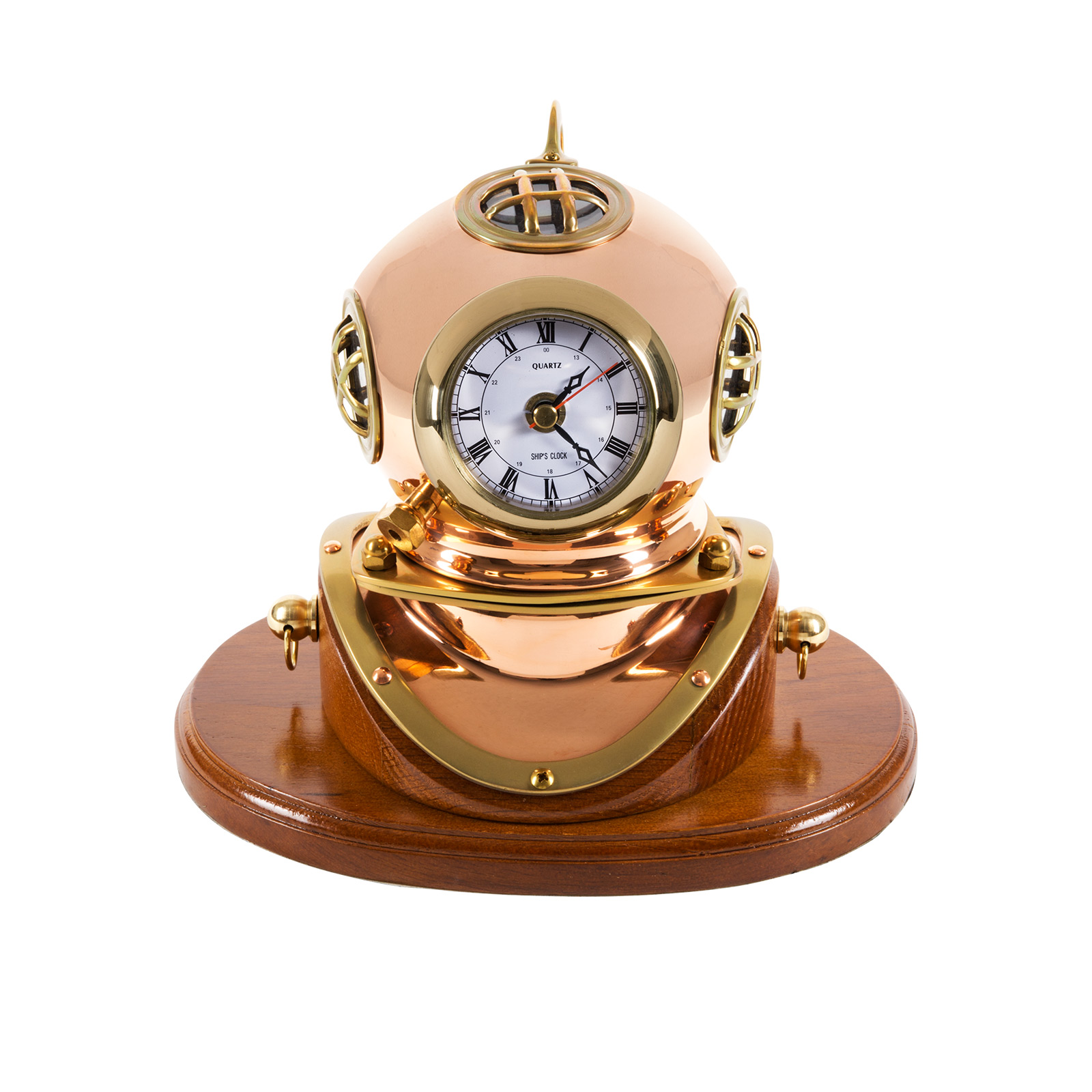 Dive Helmet Replica with Quartz Clock