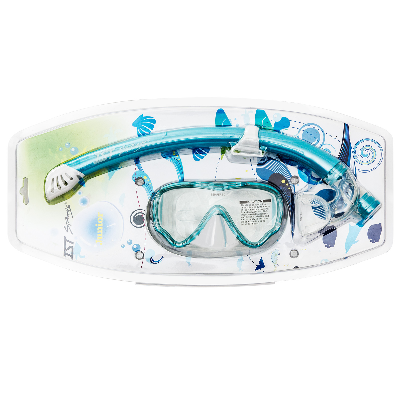 Kids Single Lens Mask & Semi-Dry Top Snorkel Set