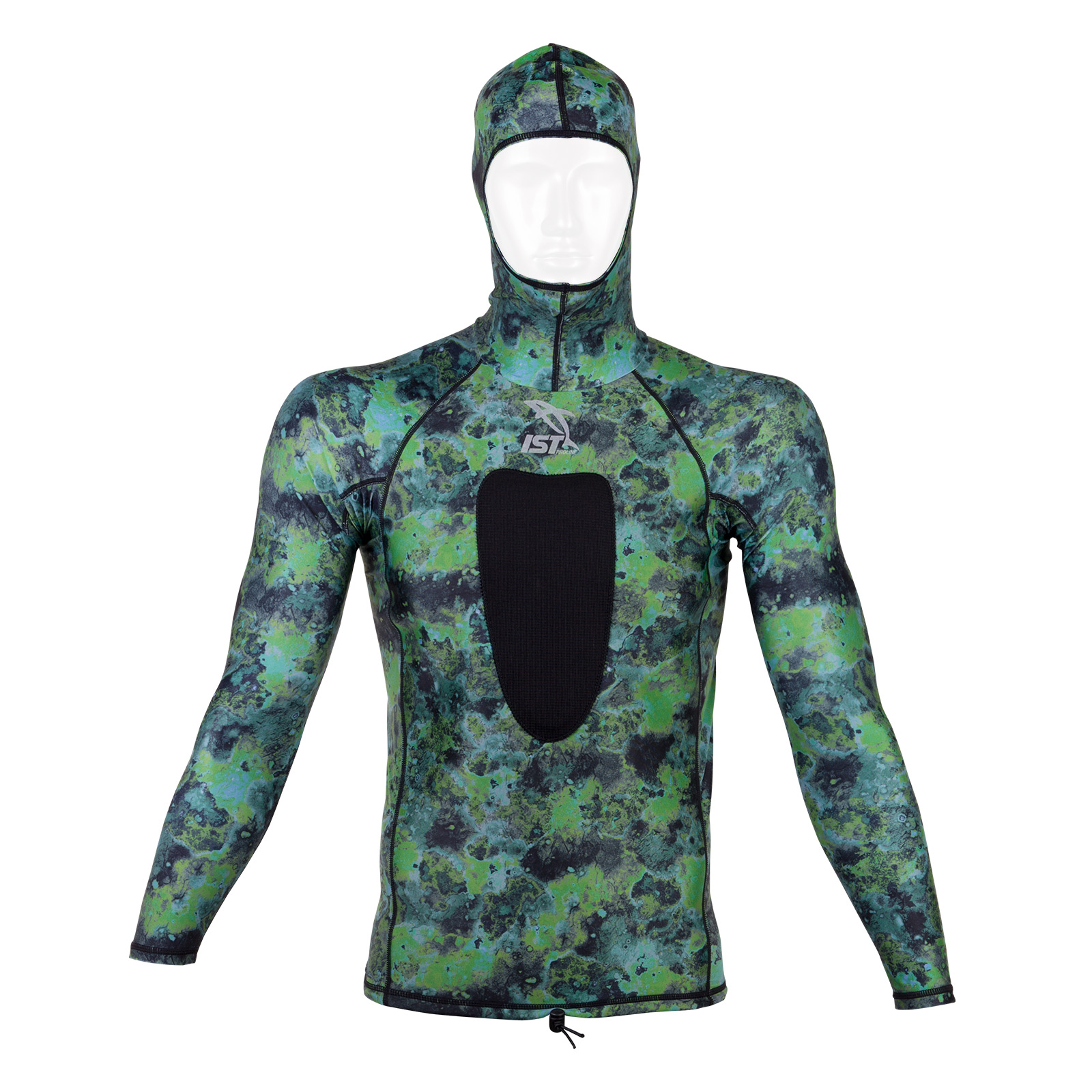 Camouflage Spearfishing Hooded Rash Guard