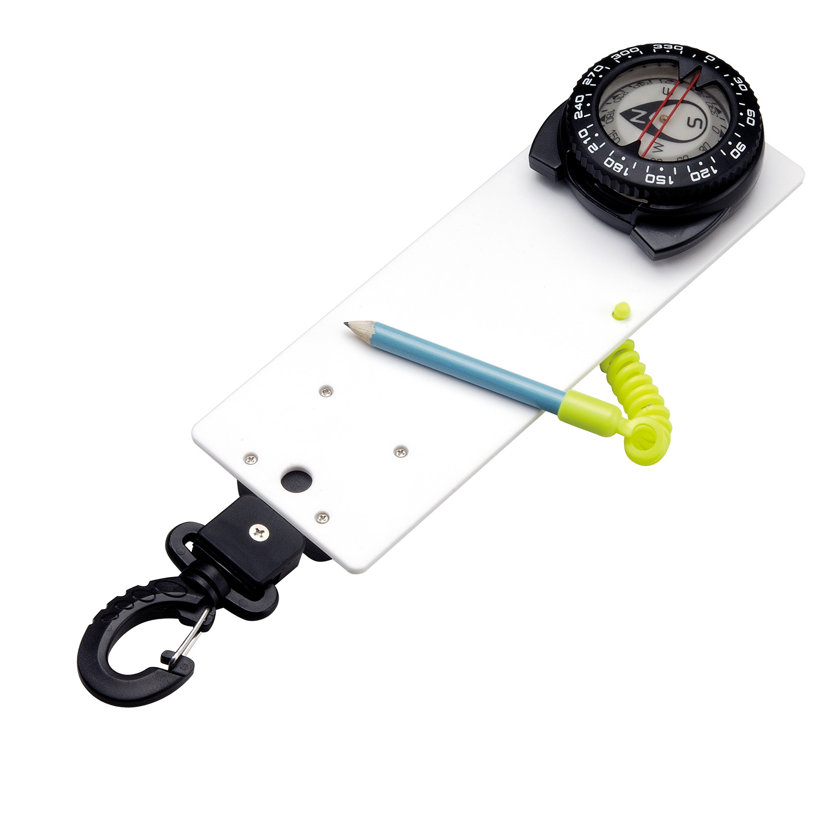 Retractable Lanyard Underwater Slate with Compass